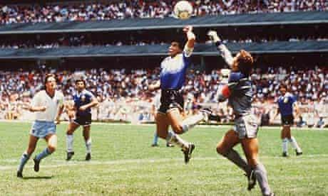 WM 1986 in Mexiko  Viertelfinale ARG - ENG
