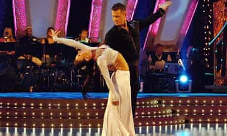 Darren Gough with his dance partner Lilia Kopylova