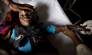 Child suffering from diarrhoea in the Democratic Republic of Congo