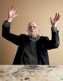 David Hockney gesticulating