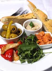 Café Below's veggie platter