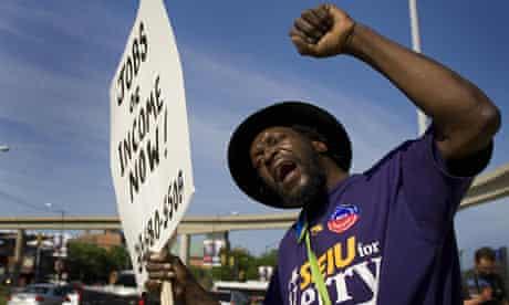 Demonstrator in Detroit