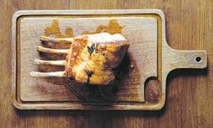 Roast rack of pork