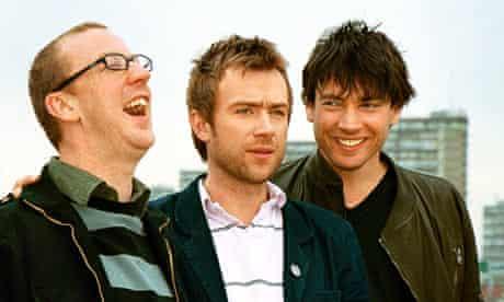 Dave Rowntree, Damon Albarn and Alex James