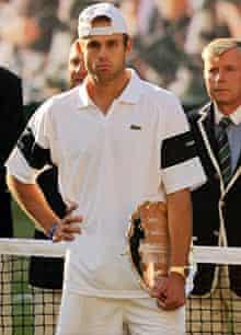 Andy Roddick looks dejected