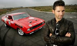 Eric Bana and his car