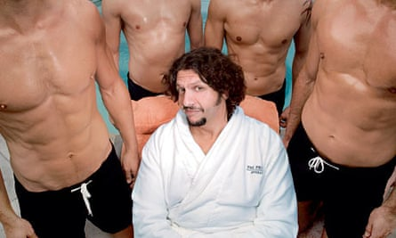 Jay Rayner beside the pool at The Peninsula hotel