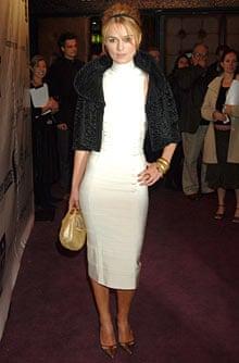 Keira Knightley wearing fur