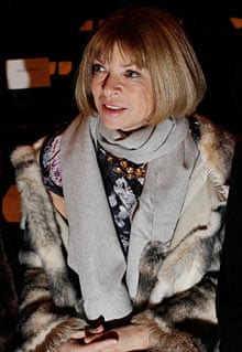 Anna Wintour attends a New York fashion week show