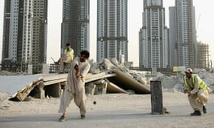 Pakistani workers on a Dubai building site