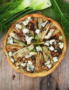 Fennel and gorgonzola soufflé tart