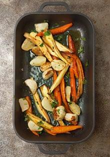 Roasted vegetable salad with gremolata