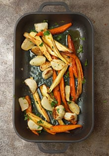 Roasted vegetable salad with gremolata
