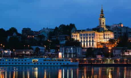 Belgrade old town from the Sava River
