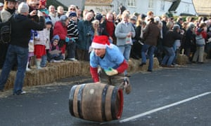 Barrel rolling in Grantchester.