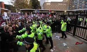 Protests Are Held Ahead of The BNP's Appearance On The BBC's Question Time