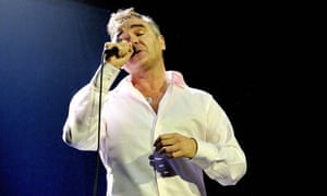 Morrissey in concert at the Brixton Academy this year.