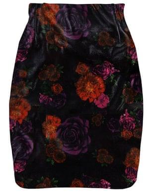 Key Trends Velvet: floral skirt