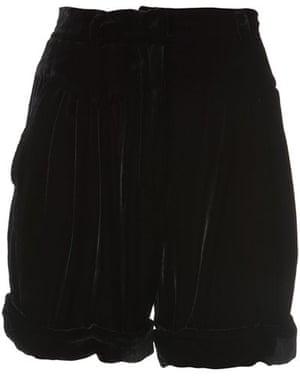 Key Trends Velvet: velvet shorts