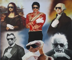 Michael Jackson's auction: Michael Jackson's lookalikes painting