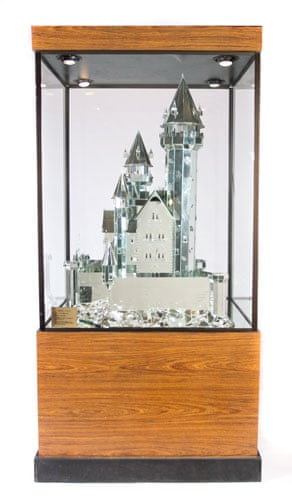 Michael Jackson's auction: Michael Jackson's model of Falkenstein Castle