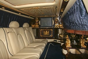 Michael Jackson's auction: Interior of Royles Royce Designed by Michael Jackson