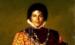 Portrait of Michael Jackson dressed as a King