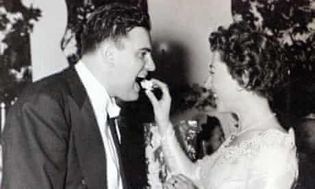 The Rosenblat's on their wedding day
