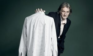 Paul Smith and a shirt ready for customization
