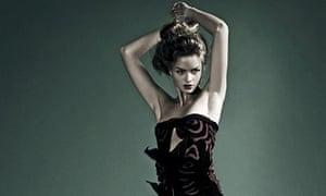 Model wearing Vivienne Westwood dress