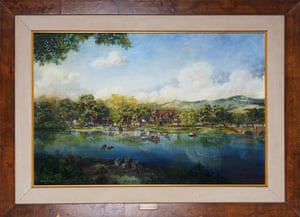 Michael Jackson auction 2: A scenic painting of Neverland Ranch
