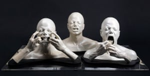 Michael Jackson auction 2: A group of three busts of Michael Jackson