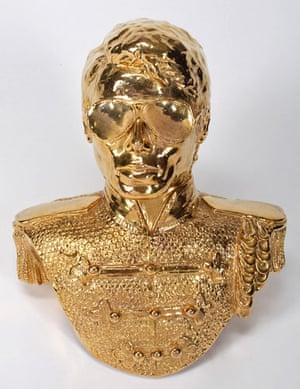Michael Jackson auction 2: A gold painted bust of  Michael Jackson