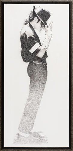 Michael Jackson auction 2: charcoal drawings of Michael Jackson dancing