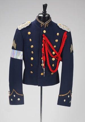 Michael Jackson auction 2: customized navy wool jacket
