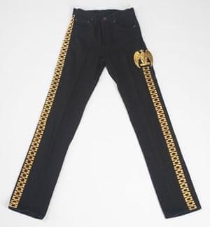 Michael Jackson auction 2: A pair of black Levi denim trousers