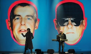 Pet Shop Boys perform at the Brit Awards