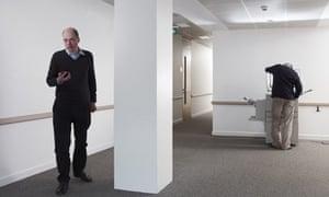 Alain De Botton in an office