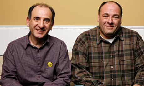 Armando Iannucci and James Gandolfini