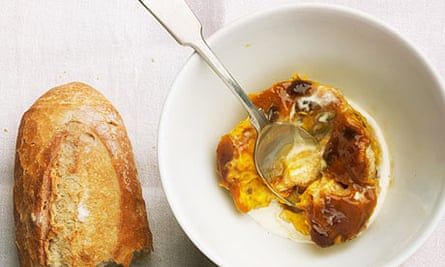Pumpkin and whisky bread and butter pudding