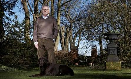 Historian David Starkey with his dog Ledger