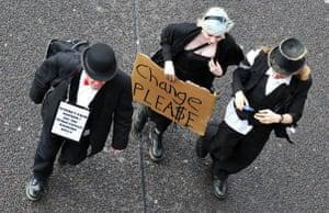 Put people first: Demonstrators