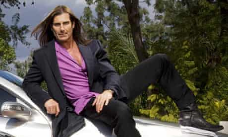 Fabio Lanzoni photographed at home