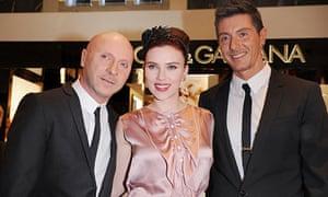 Scarlett Johansson with Dolce and Gabbana
