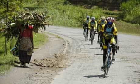 Team Rwanda on a training session