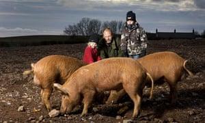 Alex Renton with his children and Spidey
