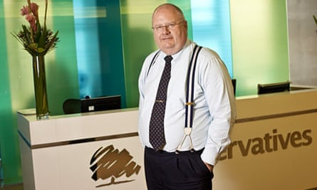 Eric Pickles at Conservative HQ