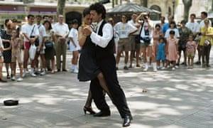 Dancing in Las Ramblas