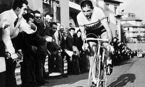 Fausto Coppi in action