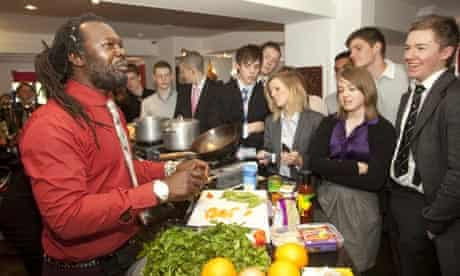 Levi Roots talks to National Enterprise Academy students